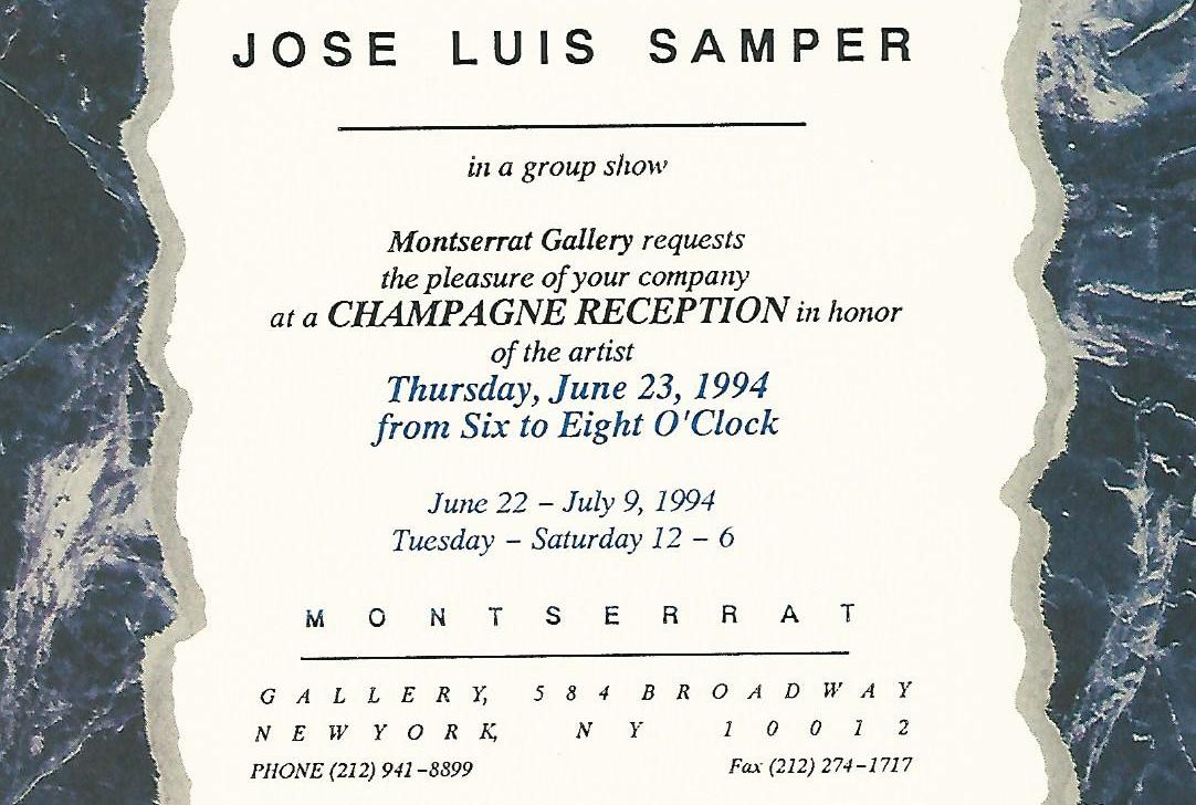 Jose Luis Samper, New York